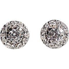 Ileana Makri Diamond Stud Earrings found on Polyvore