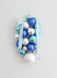 DIY Ornament Swag - Coordinately Yours, by Julie Blanner - tutorial looks good