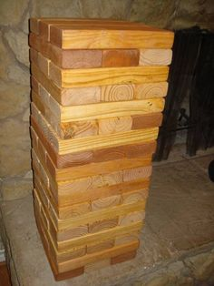 GOLDEN PECAN SET is here - Have fun at your next party w/ GIANT TUMBLING TOWERS - FREE SHIPPING www.tumblingtowers.com