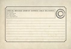 free printable vintage telegram for journaling card