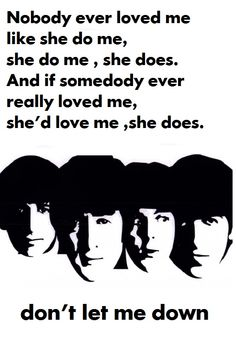 Don't Let Me Down | The Beatles...favourite Beatles song!!