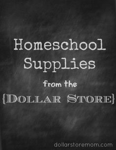 What to buy: homeschool supplies from the dollar store