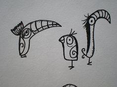 Tiki tOny Tiki Bird Drawing by tikitony, via Flickr