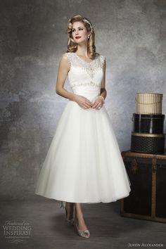 justin alexander bridal 2013 tea length wedding dress 8650