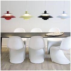 the PH 50 Pendant by Louis Poulsen comes in so many color choices, and we love it!