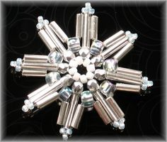 *P Bugle Star - Beaded Snowflake Tutorial PDF