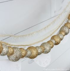 DIY Gold Holiday Garland- for the mantle