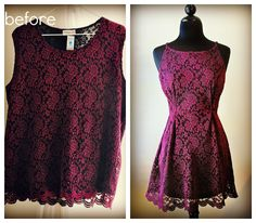 diy ideas, sewing machines, overs top, party dresses, mini dresses, the dress, diy clothing, thrift store finds, lace dresses