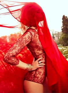 Harper's Bazaar Turkey #redlace #editorial
