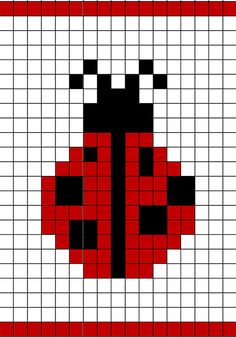 Ladybug Chart pattern by Annie Brunet - duplicate stitching for your knitting projects