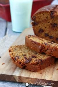 Copycat Great Harvest Pumpkin Chocolate Chip Bread is soft and so yummy!