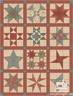 Piece N Quilt: Star BOM