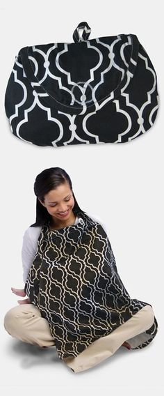 Boppy Nursing Cover.  Folds up into a cute packable pouch.