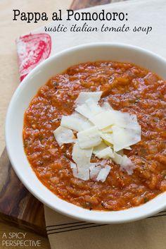 Pappa al Pomodoro - Homemade Tomato Soup #ITALY #SOUP #TOMATOSOUP