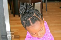Rounded Box Twists Up-Do | Chocolate Hair / Vanilla Care: Style Gallery