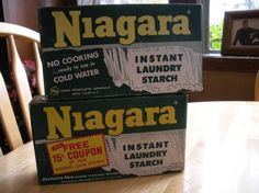 Vitage Laundry Detergent | Boxes Vintage NIAGARA Laundry Starch Soap Detergent