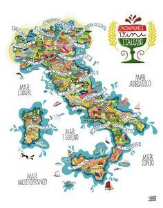 Vini Italiani #mappa #vino #vino italiano