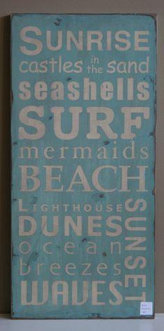 love this beachy sign