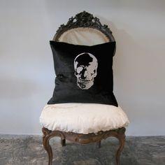 Velvet skull pillow...