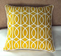 Dwell Pillow in mustard