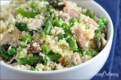 Spring Vegetable Couscous with Chicken on www.veryculinary.com