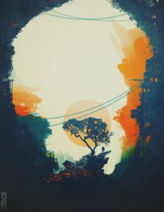 Orange Tree by *TavenerScholar on deviantART