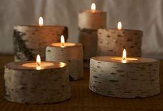 Wood candels