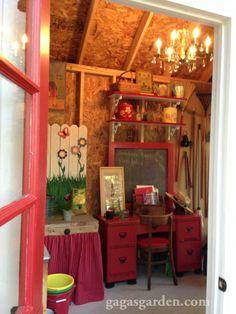 garden shed interiors on pinterest shed design greenhouse interiors. Black Bedroom Furniture Sets. Home Design Ideas