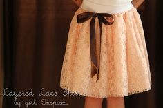 Girl. Inspired.: Layered Lace Skirt