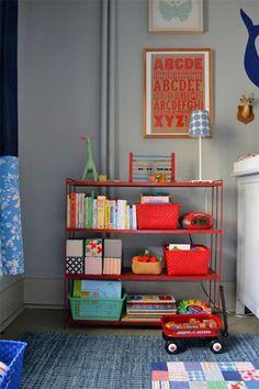 primary colors, kid rooms, boy rooms, boy nurseries, shelv, vintage toys, bright colors, vintage inspired, babies rooms