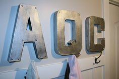 retropolitan: zinc letters...with added brads