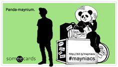 Panda-maynium. Get it #mayniacs? ;) haha Re-pin if you're a Conor Maynard fan!