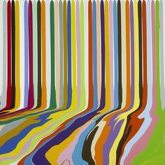 Ian Davenport, Puddle Painting: Titanium White, 2009. Acrylic paint on aluminium, mounted on aluminium panel