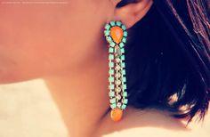 S U N  Coral Earrings. $40.00, via Etsy.