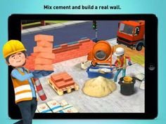 Little Builders - Truck, Crane & Digger for Kids - a virtual construction site with 5 interactive scenes: digger and dump truck, house painting, roof construction, laying bricks and building a foundation. Appysmarts score: 82/100 http://www.appysmarts.com/application/little-builders-truck-crane-digger-for-kids,id_99435.php