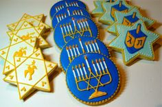 Hanukkah Cookies | #hanukkah #chanukkah #food #dessert #holiday #party