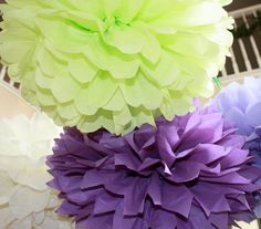 Paper Pom Poms  Set of 10 Your Color by SweetandSavvyDesigns, $30.00