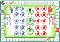 18 Soccer Times Tables And Division Games from Let Me Learn on TeachersNotebook.com -  (180 pages)  - 18 soccer themed times tables and division tables board games to print and play.  Inspired by reluctant and struggling learners who love games and sport! Preview contains a complimentary game.