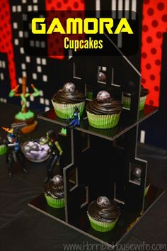 Gamora cupcake with