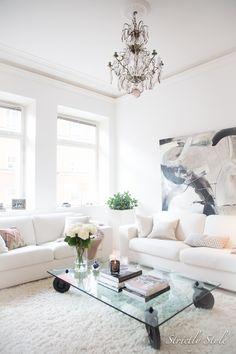white decor living room nordic