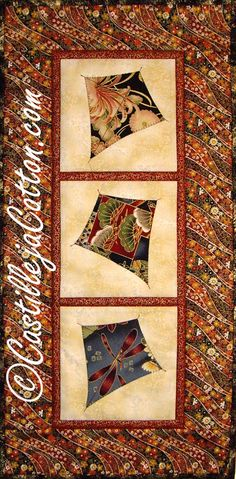 Kite Quilted Wall Hanging  Swirling Kits Quilt by castillejacotton, $49.00