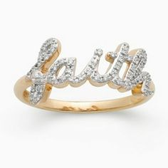 JLove by Jennifer Lopez 10k Gold 1/4-ct. T.W. Diamond Faith Ring
