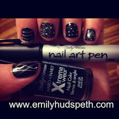 Review of Sally Hansen Xtreme wear polish (its awesome!) and my first attempt using the nail art pen.