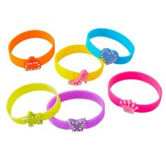 Bling Silicone Bracelet with Charm (Bulk Pack of 24 Bracelets) at theBIGzoo.com, a toy store that has shipped over 1.2 million items.