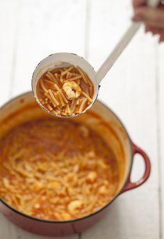 Receta 158: Sopa de pescado barata con fideos gordos » 1080 Fotos de cocina