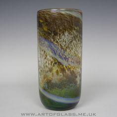 Isle of Wight Studio Glass Aurene vase, designed by Michael Harris