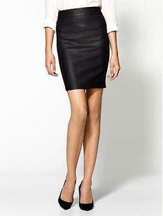 Sanctuary Vegan Leather Ponte Pencil Skirt, Piperlime