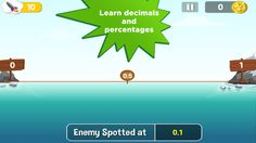 Battle Stations: Math - A Fingerprint Network App ($0.00) the only way to defend your ship from enemy submarines is to estimate their location. Your ship's sonar will tell you the coordinates of incoming subs. Then, you must estimate the subs' locations using the marker buoys. help kids build their estimation skills (great for grades 1-4) give kids a visual understanding of where numbers fall on the number line Encounters with important math units including integers, percentages and decimals ship, number lines, number fall