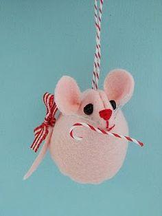 felt christmas, candy canes, felt ornaments, felt mous, christma ornament, mous ornament, christmas ornaments, christmas garlands, creativ breath