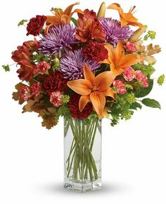 Teleflora's Fall Brights Bouquet of #FallFlowers